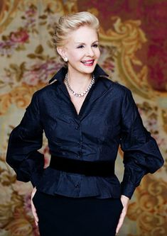 Designer Carolina Herrera -- love her sense of style: feminine but not girly