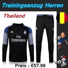 Schönsten Trainingsanzug Set Fussball Real Madrid FC Schwarz Saison 16 17 18 Deutschland Store