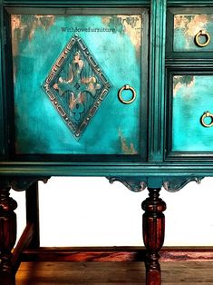 image 2 Funky Painted Furniture, Chalk Paint Furniture, Refurbished Furniture, Upcycled Furniture, Rustic Furniture, Cool Furniture, Furniture Design, Luxury Furniture, Furniture Stores