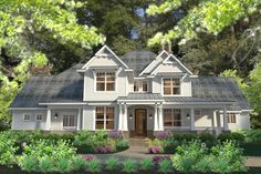 Craftsman Style House Plan - 3 Beds 2.50 Baths 2575 Sq/Ft Plan #120-183 Exterior - Front Elevation
