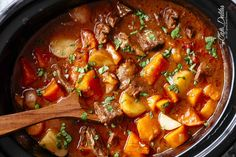 Guinness Beef Stew - Tender chunks of beef are cooked, uncovered in a rich, thick and flavorful gravy with carrots and potatoes. Irish Recipes, Beef Recipes, Soup Recipes, Cooking Recipes, Recipies, Cooking Ideas, Fall Recipes, Dinner Recipes, Spinach Tart