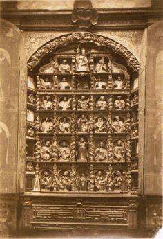 Relicario barroco da sancristía da igrexa do mosteiro de San Salvador de Lourenzá. Lourenzá, Lugo, ca. 1910. Xelatina de prata ao clorobromuro. 17 x 12 cm.