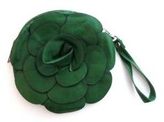 Pochette Merari - Vert - Fleur Simili-Cuir - So Frexo