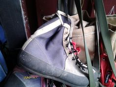 Old school climbing boots