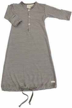 Nature Baby Organic Merino Classic Gown baby gown; Baby Boy Super Soft