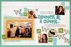 Dinner at a Diner scrapbook layout by Kelly Purkey