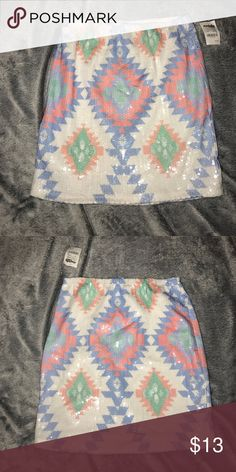 Charlotte Russe sequenced skirt! NWT sequences skirt. Charlotte Russe Skirts Mini