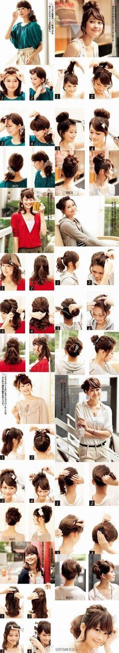 """For when my hair gets longer: """"japanese style!"""" - www.AsianSkincare.Rocks"""