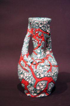 Gr. Vase Vallauris signiert Keramik Frankreich Vase French Artist in Antiquitäten & Kunst, Porzellan & Keramik, Keramik | eBay