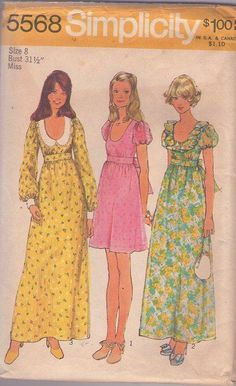 MOMSPatterns Vintage Sewing Patterns - Simplicity 5568 I made this dress!