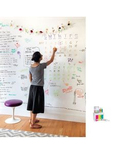 whiteboard wall paint for life size wall calendars and planning spaces dry erase - Dry Erase Board Paint
