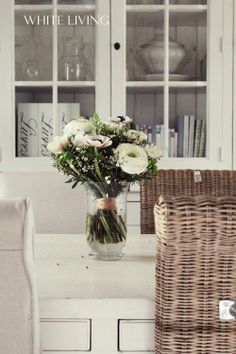 birthday flowers & new dining table