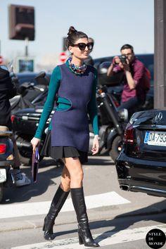 Paris Fashion Week FW 2015 Street Style: Giovanna Battaglia