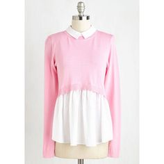 ModCloth Scholastic Mid-length Long Sleeve Twofer Oxford Matriculation Top