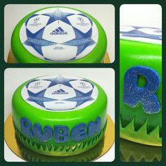 Cake Balón #pritycakes #cakes #fondant #edibleprint #championleague #futbol #football