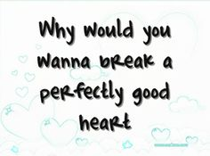 Perfectly Good Heart - Taylor Swift <3