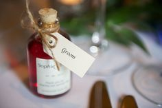 Wedding favour - home made sloe gin