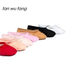 Fan wu fang 2017 Nouveau 7 Couleur Toile Souple Ballet De Danse chaussures  De Yoga Chaussures e2bdb5aa14aa