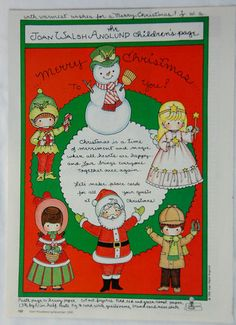 Joan Walsh Anglund magazine paper doll page Christmas December