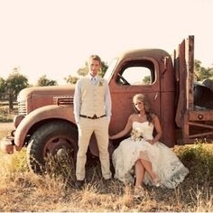 historic wedding pictures pinterest | Wedding Pictures on his old pickup!