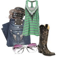 Miss Me top and Miss Me jeans #horse #Western #country