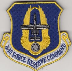 US AIR FORCE PATCH - A-10 FORCE RESERVE COMMAND