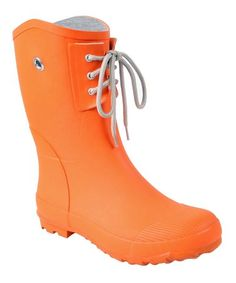 Take a look at this Orange Kelly B Rain Boot - Women by Nomad Footwear on #zulily today!
