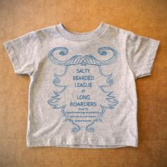 Salty Bearded Toddler Tee Gray now featured on Fab.