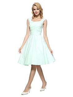 9930ff3770d Maggie Tang Vintage Retro Swing Rockabilly Party Dress Pink S