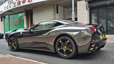 Black chrome wrapped Ferrari California spotted   automotive99.com