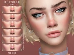 The Sims 4 Blusher Los Sims 4 Mods, Sims 4 Body Mods, Sims 4 Game Mods, Sims 4 Tattoos, The Sims 4 Skin, The Sims 4 Packs, Sims 4 Children, Sims 4 Gameplay, Sims 4 Collections