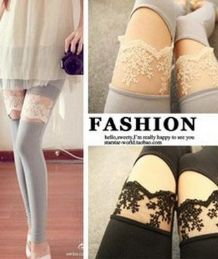 Elegant Cotton Crop Leggings Flower Lace  $20.00 tronicfashion.com