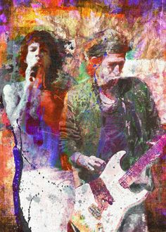 The rolling stones original painting print painting by ryan rock artist. Keith Richards, Rock Roll, Canvas Art Prints, Painting Prints, Rock Painting, Beatles, Los Rolling Stones, Rock Artists, Punk