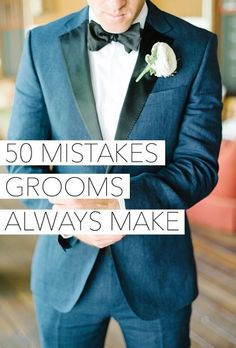 Mistakes Grooms Make