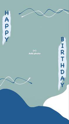 Happy Birthday Template, Happy Birthday Frame, Happy Birthday Posters, Birthday Posts, Birthday Frames, Birthday Captions Instagram, Birthday Post Instagram, Creative Instagram Photo Ideas, Photo Instagram
