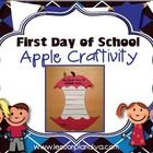 FREE First Day of School Apple Craftivity