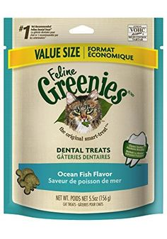 GREENIES Feline Dental Treat Ocean Fish - 5.5 Oz, Pack of 6 -- Click image for more details.