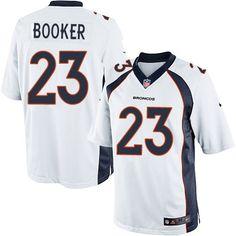 Youth Nike Denver Broncos #23 Devontae Booker Limited White NFL Jersey