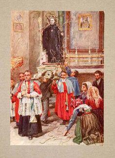 1928 Print Procession San Domenico Abruzzi Italy Cocullo Religious Canziani Art