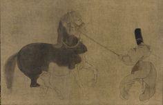 Japanese Art | Horse and Attendant | F1901.190 Momoyama