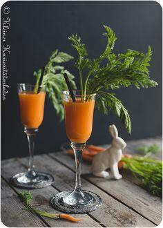 Karotten-Orangen-Mimosa Cocktails, Cocktail Drinks, Smothie, Thanksgiving, Foodblogger, Easter Party, Easter Recipes, Fresh Vegetables, Diy Food