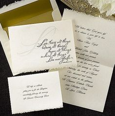 Love Never Fails Wedding Invitation.