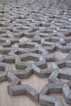 Star shaped concrete pattern #3dart #concretedesign #pattern