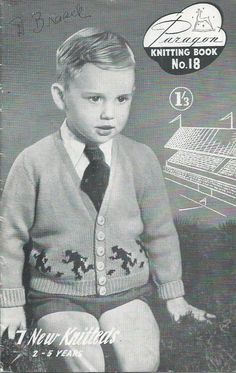 Paragon Knitting Book No.18 - Patterns For Toddlers 2-5 Years - 1950s