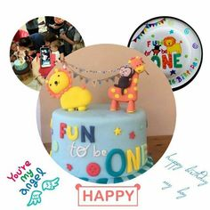 Handmade happy birthday plate in the theme of the party !!!!