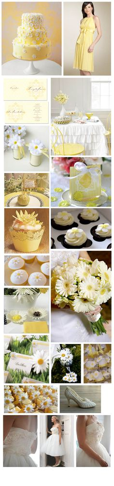 daisy yellow wedding