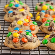Chewy M&M Chocolate Chip Cookies - These stay super chewy and soft and thick.  Made with real butter, not shortening.