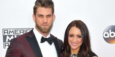 Baseball Player Bryce Harper Lined His Wedding Tuxedo With Photos Of His Fiancée