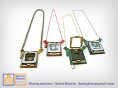 Reliquary necklace Geek & Upcycled by ElectronMemories on Etsy