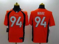 NEW Nike Denver Broncos #94 WARE Orange Elite Jersey